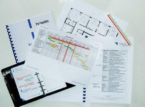 Organisation und Baubetreuung Praxis-Neubau Praxis-Umbau